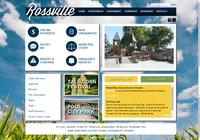 screen of the Rossville, Kansas website