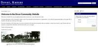 Screen shot of Dover, Kansas community website