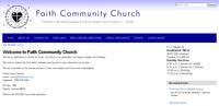 Screen shot of the Faith Topeka Church Website