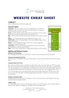 Plone 4 Cheat Sheet Screenshot
